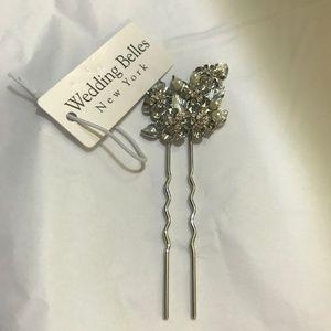 Eloise' Crystal Hairpin WEDDING BELLES NEW YORK